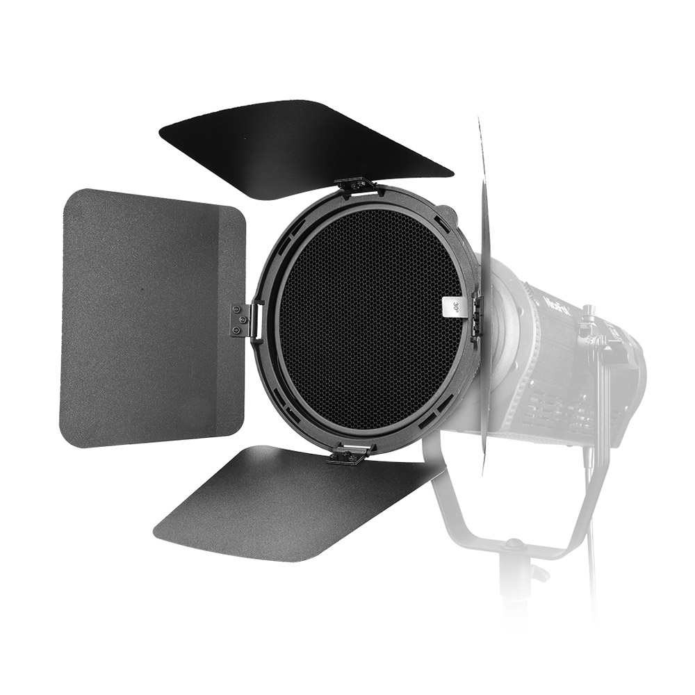 Us 5894 42 Offnicefoto Focusing Adapter With Lights Honeycomb Grids Barn Doors For Led Video Light For Studio Portraits Wedding Photography In