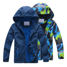 Double-deck Waterproof Windproof Boys Girls Jackets New 2019 Spring Autumn Children Outerwear Jackets Sport Fashion Kids Coats
