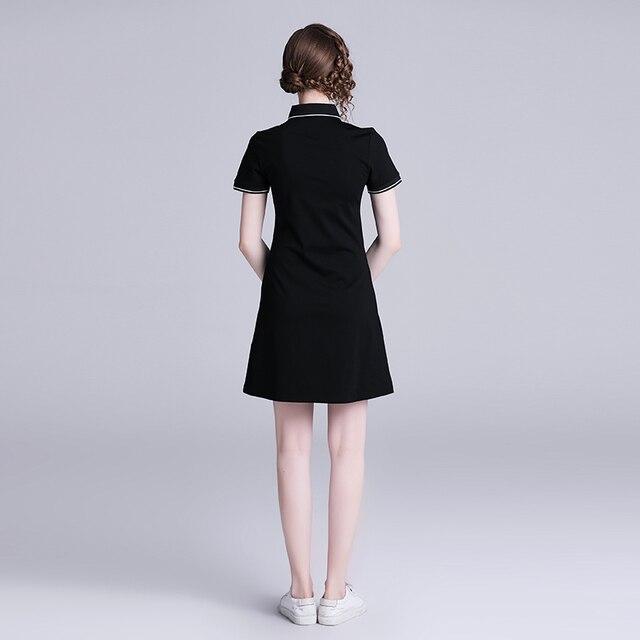 Vestido negro verano vintage negro bordados y apliques 3