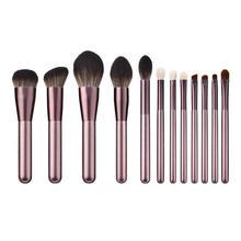 12pcs Makeup Brushes Foundation Brush Wooden Handle Soft Hai