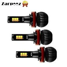 Zarpooz X5 Противотуманные фары Дневные Фары Свет белый и синий двухцветные переменного H3 H4 H7 H8 H10 H27 HB4 для авто светодиодный лампы 2 шт./компл.