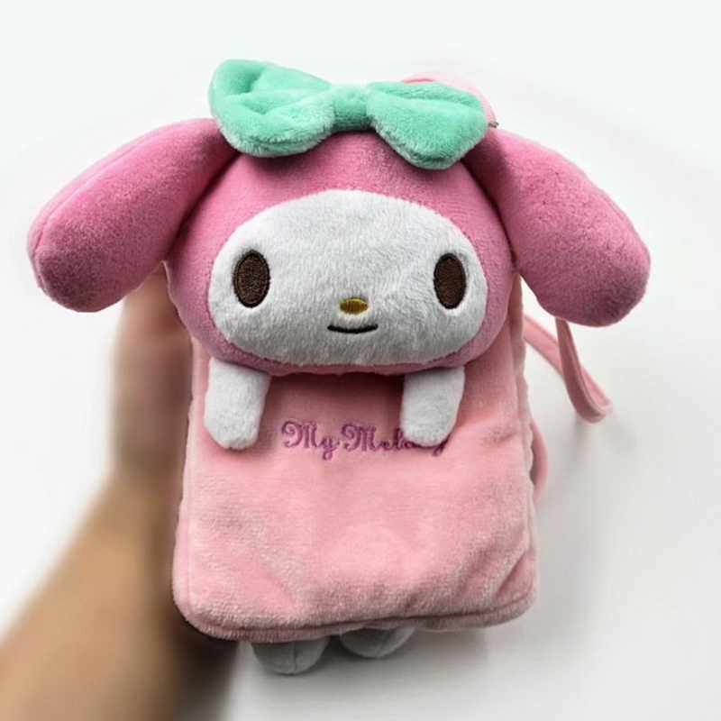 1 Pc Kawaii My Melody Cinnamoroll Dog Hello Kitty Plush Toys Soft Shoulder  Bag Phone Bags 029a2723d8411