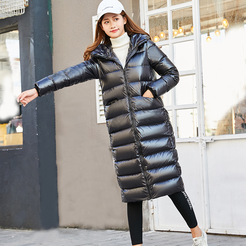 71f670290fa01 2019 90% Goose Feather Coat Long Black Shiny Thick Warm Loose Down Parka  White Duck Puffer Jacket Plus Size Outerwear Okd673-in Down Coats from  Women's ...