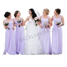 vestido madrinha 2019 Elegant Lavender Bridesmaid Dresses Sweetheart  Neckline Cheap Chiffon Brides Maid Dress f39842fe83b4