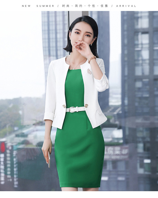 2018 Autumn Women Ol Work Office Lady Dress Suits Suit For Ladies
