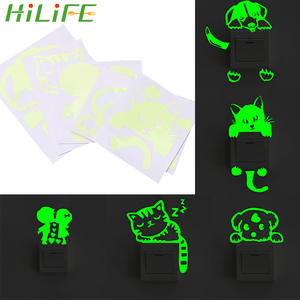 Decoration Sticker Glowing DIY Cartoon Switch 1pc Fluorescent Luminous