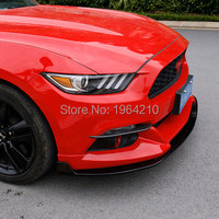MONTFORD For Ford Mustang 2015 2016 2017 Exterior Front Fog Light Lamp Eyelid Eyebrow Strips Trim Sticker 2Pcs Car Accessories