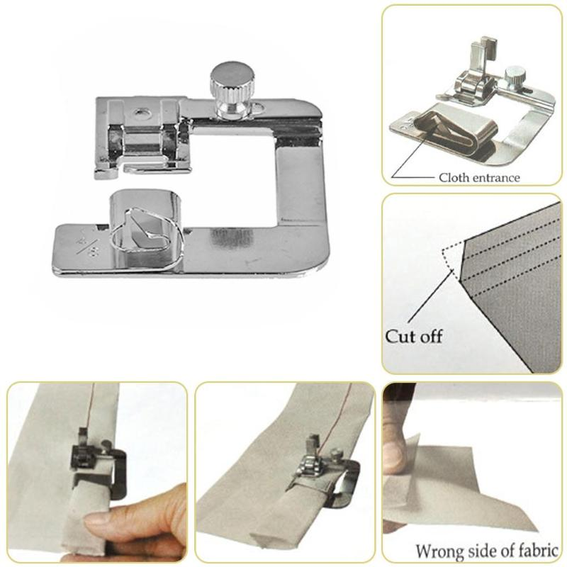 Image 3 - 13 25 cm Domestic Sewing Machine Foot Presser Rolled Hem Feet Set for Brother Singer Sewing Accessories-in Sewing Tools & Accessory from Home & Garden