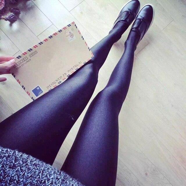 bcc298ab000d7 New Women Shiny Leggings Sexy Gloss Shaping Pants Black Legging High  Elastic Waist Ladies Skinny Leggins Plus Size 5XL Jeggings