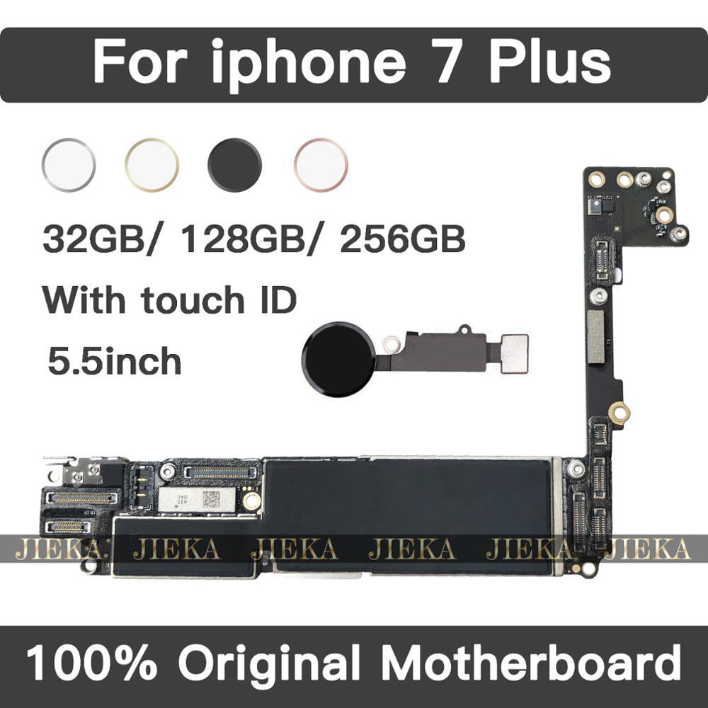 Заводская разблокировка оригинальная материнская плата для Apple iPhone 7 Plus 5,5 дюймов с сенсорным ID материнская плата IOS установленная логическа