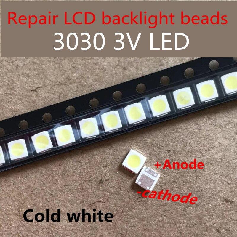 Lextar 100 pces/diodo emissor de luz luz de fundo 1 w 3030 3 v branco fresco 80-90lm tv aplicação