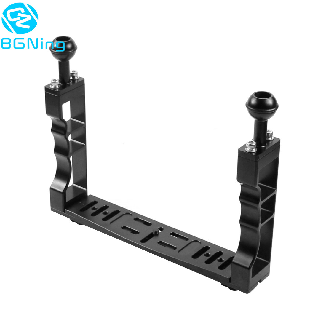 New Handle Aluminium Alloy Tray Stabilizer Rig For Underwater Camera Housing Case Diving Tray Mount For GoPro DSLR Smartphones