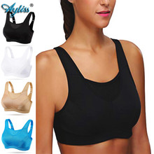 Ayliss Black Full Cup Professional Absorb Sweat Top Athletic Sport Bra High Impact Wire Free Plus Size Ladies Outdoor