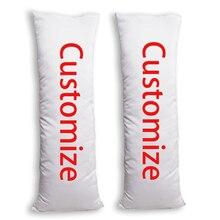Custom Print Body Pillow Case Sublimation Peach Skin Natural Velvet 2 way Tricot Pillwo Cover
