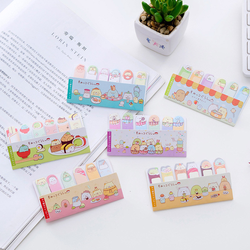 Cute Sumikko Gurashi Memo Pad Kawaii Decorative Sticky Notes Self Adhesive Notepad For Gift Stationery Office School Supplies