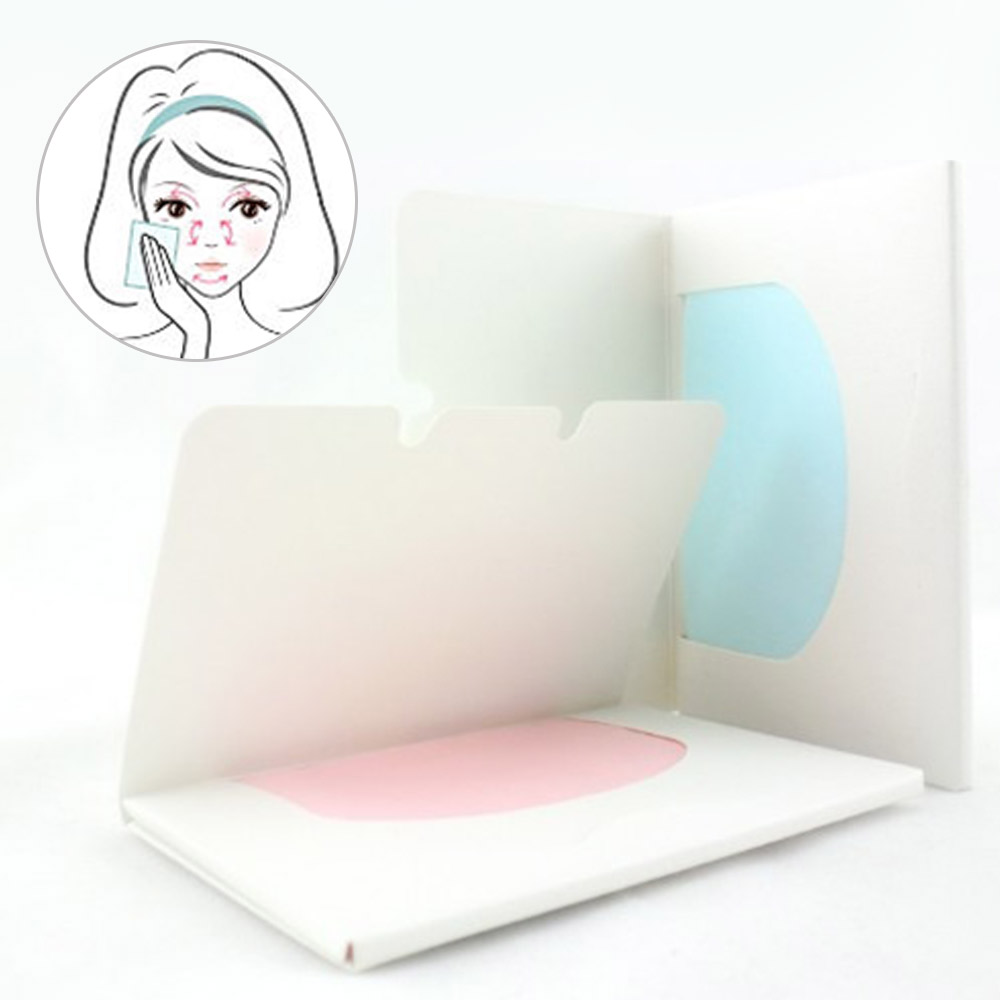 100pcs Hot Sale Random Facial Oil Control Absorption Film Tissue Makeup Blotting Paper Pulp
