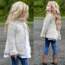 Новое поступление, зимние свитера, пальто, детский плащ для маленьких девочек, теплые свитера, Детская шерстяная вязаная одежда, От 1 до 8 лет