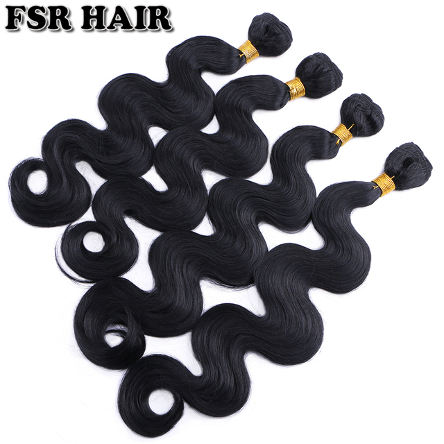 """12-24"""" Body wave Synthetic Hair Weave Pure Color Sew in Hair Extensions 100g one bundle Hair product"""
