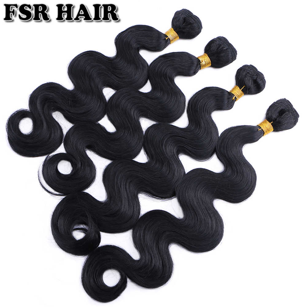 "12-24"" Body wave Synthetic Hair Weave Pure Color Sew in Hair Extensions 100g one bundle Hair product"