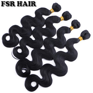 Hair-Weave Hair-Product Synthetic-Hair-Extension Body-Wave Black 100g Available 12-24-Inches