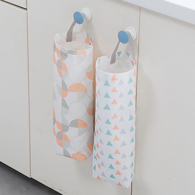 Household Grocery Bag Holder Storage Dispenser Wall Mount Kitchen  Organizer