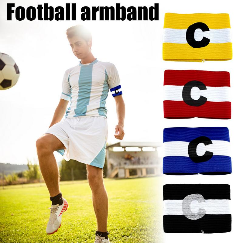 1 Pcs Arm Band Leader Competition Football Captain Armband Soccer Captain Armband Group Armband Yellow/ Red/ Blue/ Black