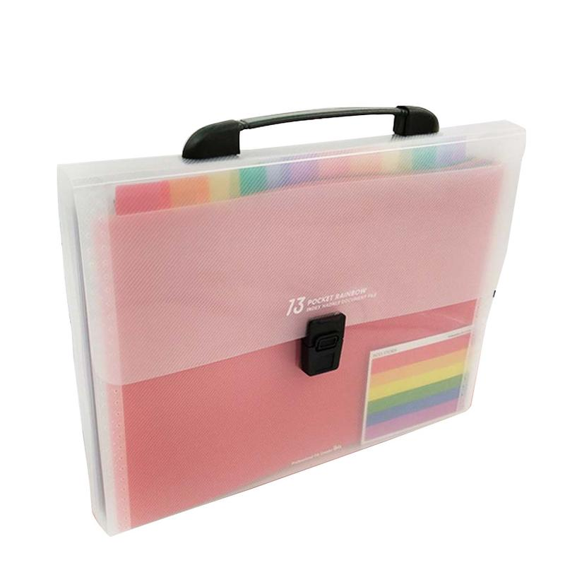 A4 13-lattice Multi-layer Big Document Bag Rainbow Accordion A4 Classificatio Folder Test Paper Storage Bag Bill Expanding FileA4 13-lattice Multi-layer Big Document Bag Rainbow Accordion A4 Classificatio Folder Test Paper Storage Bag Bill Expanding File