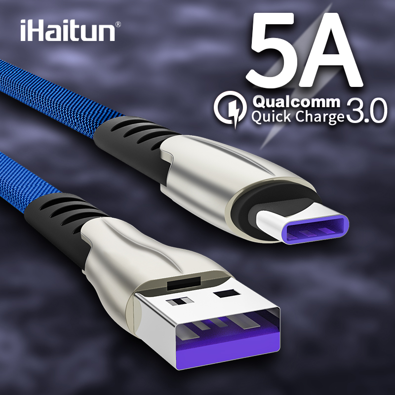 Image 2 - iHaitun 5A USB Type C Cable For Huawei P20 Lite Honor 10 9 Pro 3.1 Fast Charging Data Cord Phone Charger Samsung S9 Redmi Note 7-in Mobile Phone Cables from Cellphones & Telecommunications