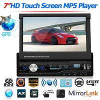 T100G 7 Inch Car Stereo MP5 Player RDS FM AM Radio Bluetooth USB AUX Head Unit Better Bluetooth Microphone Hand free Vehicle MP5