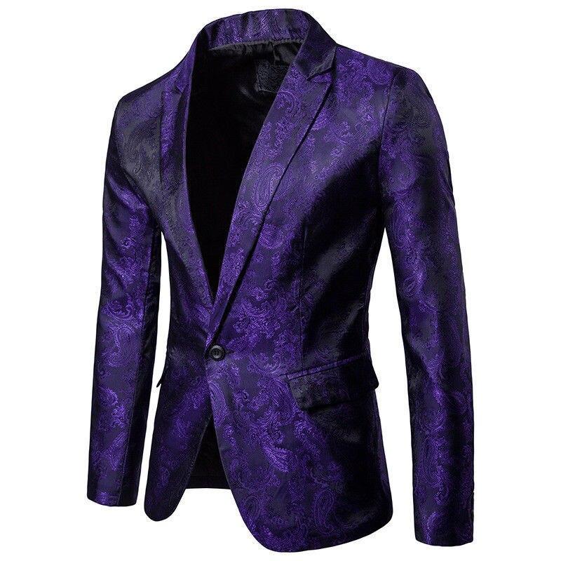 2019 New Trendy Men Shiny Blazers Gold Glitter Suit Jackets Male Nightclub One Button Suit Blazer DJ Stage Blazers One Piece