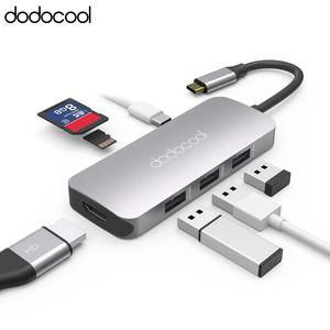Image 2 - Dodocool 7 في 1 متعددة الوظائف USB C محور مع 4K HD الناتج SD/TF PD شحن 3 منافذ USB 3.0 لماك بوك لماك بوك برو وأكثر من ذلك