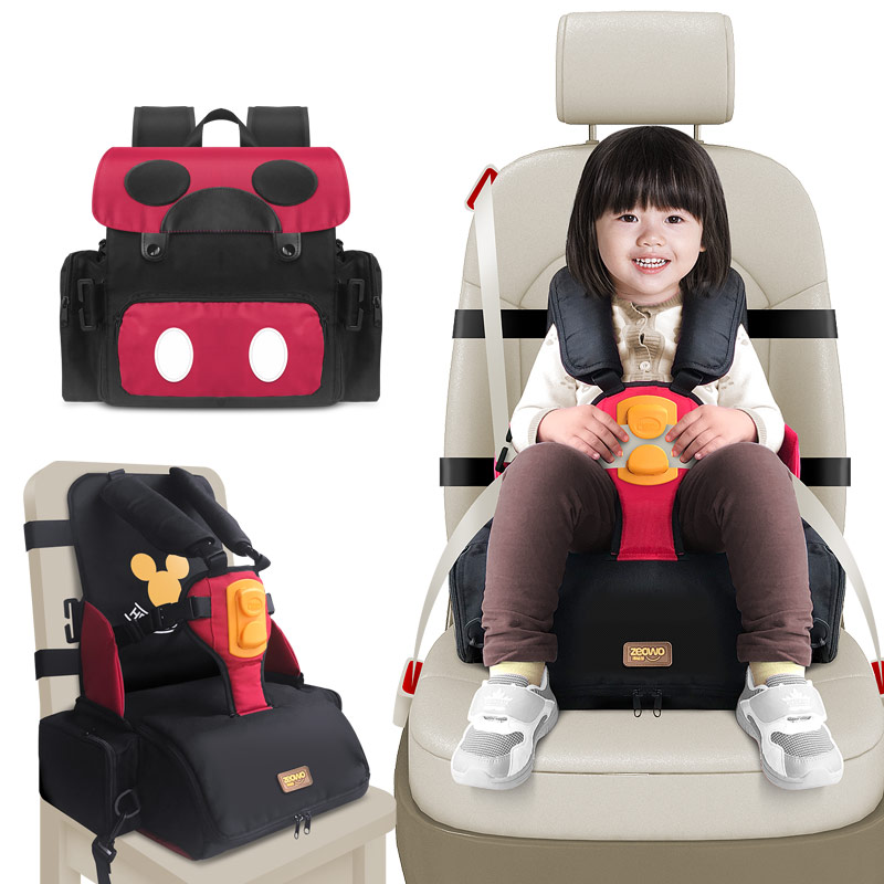 Image 5 - 3 in 1 waterproof Child Car Seat Safety Seat Mommy Bag Portable Baby Feeding Booster toddler kids dining chair infant High Chair-in Car Seat Adapters from Mother & Kids