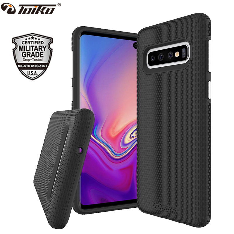 TOIKO X Guard 2 in 1 Protection Case for Samsung Galaxy S10 Shockproof Covers S10e S10 Plus Soft TPU Hard PC Armor Hybrid ShellTOIKO X Guard 2 in 1 Protection Case for Samsung Galaxy S10 Shockproof Covers S10e S10 Plus Soft TPU Hard PC Armor Hybrid Shell