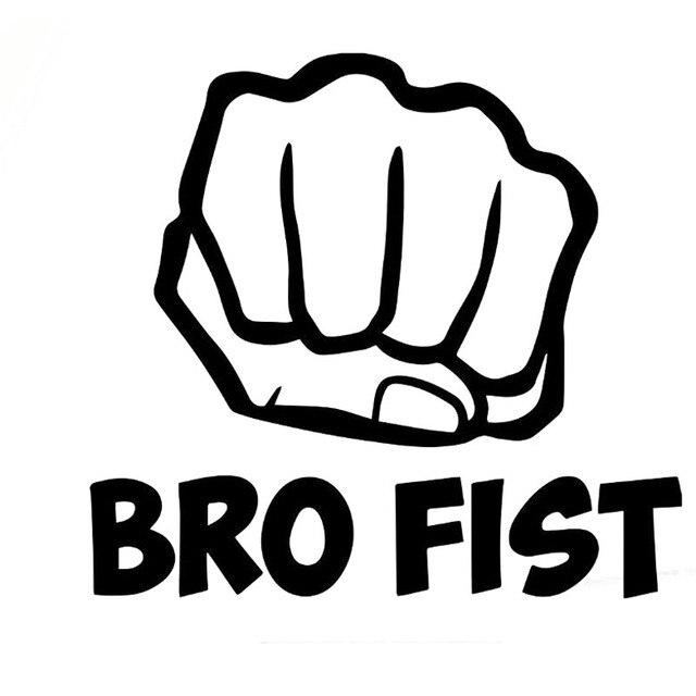 16x14 7cm bro fist funny motorcycle car sticker car styling vinyl