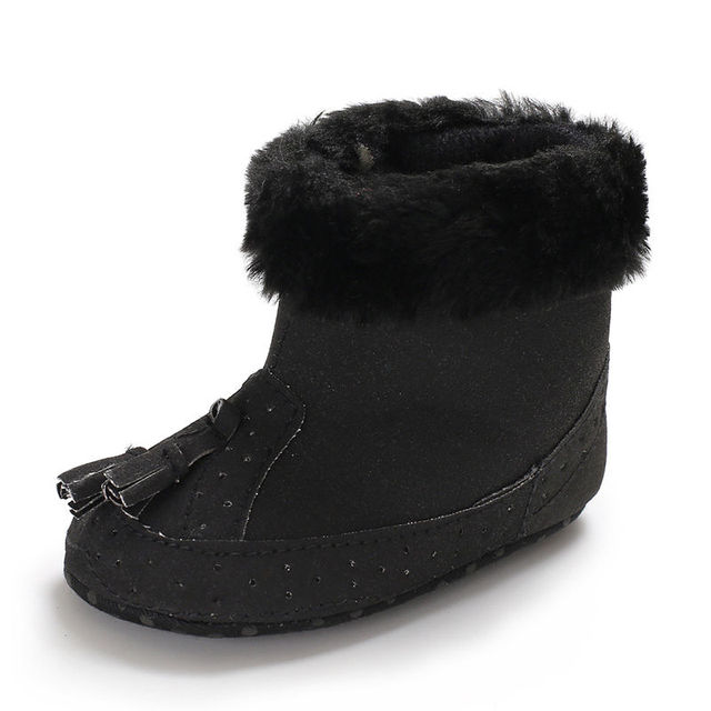 2019 0-12M Tassel warm Baby Girl Boy boots Snow Boots Winter Warm Booties Infant Toddler Newborn Crib Shoes Fashion Style 3