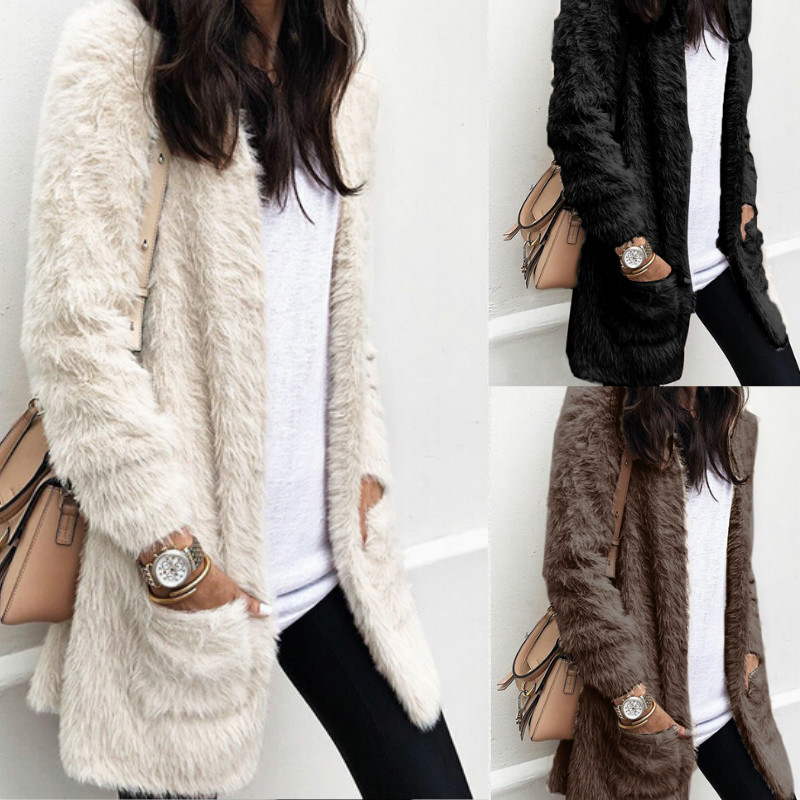 2019 Women Sweaters Winter Autumn Wool Crochet Knitted Cardigan Sweater Long Sleeve Female Casual Long Sweater Coat Plus Size