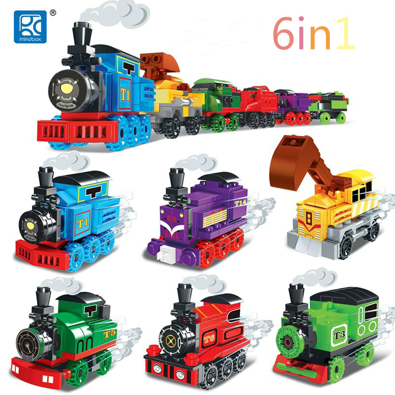 6in1 City Legoinglytrains Without Track Railway Model Sets Building Blocks Bricks Train Toys For Children To Be Renowned Both At Home And Abroad For Exquisite Workmanship Toys & Hobbies Skillful Knitting And Elegant Design Blocks