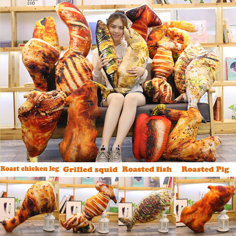 New Creative Simulation Food Pillow Office Sofa Home Evil Funny Food Plush Toys Soft Stuffed Plush Toy Home Decor