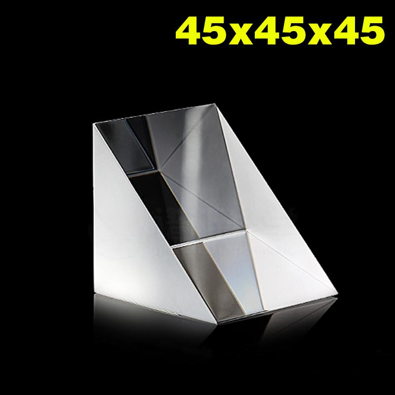 45x45x45cm Optical Glass Prisms Equilateral Triangle Right Angle K9 Prisms Lens Light Spectrum Physics45x45x45cm Optical Glass Prisms Equilateral Triangle Right Angle K9 Prisms Lens Light Spectrum Physics