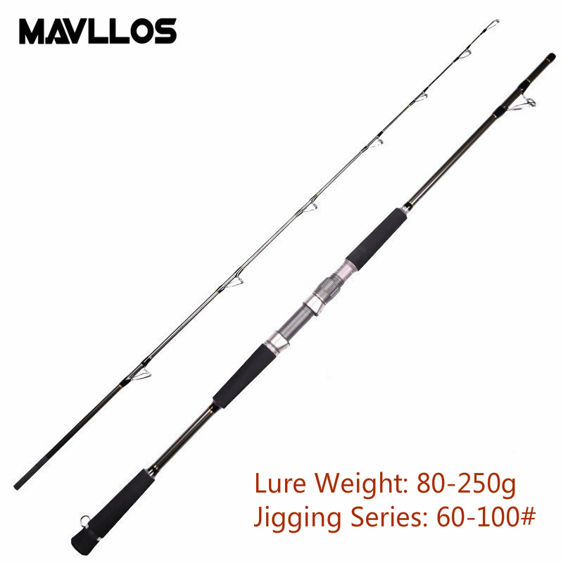 Mavllos MH Superhard Saltwater Jigging 1.8m 1.68m Lure Weight Carbon Boat Fishing Rod