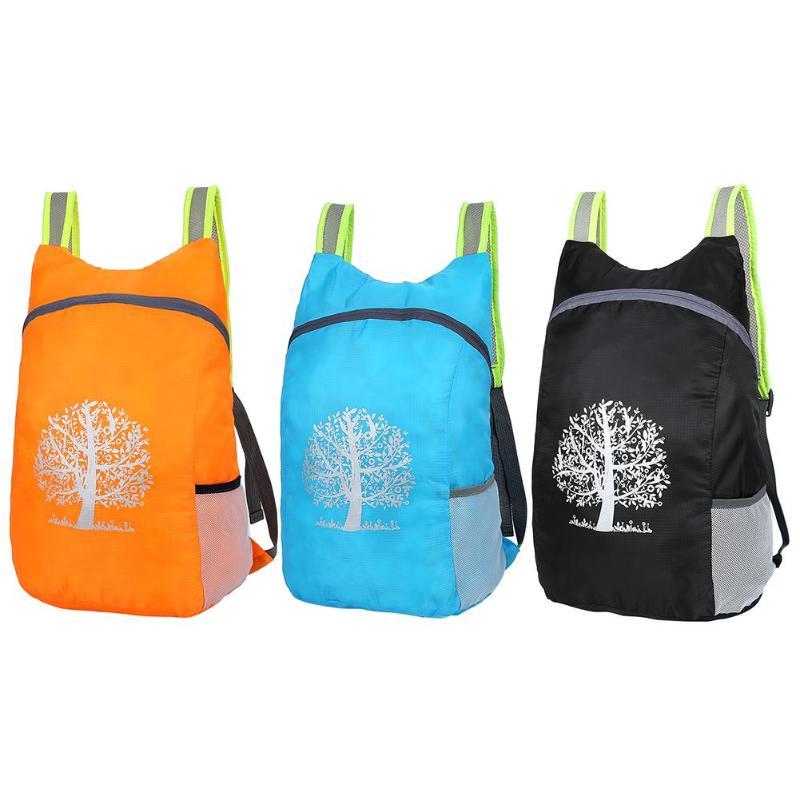 2019 Unisex Folding Backpack Hiking Camping Bag Ultra Lighting Light Outdoor Sport Backpack Waterproof Foldable Travel Backpack