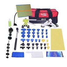 hot deal buy 73 in 1 paintless dent repair tools kit dent lifter tool set paint dent repair tool car body repair tool with uk plug