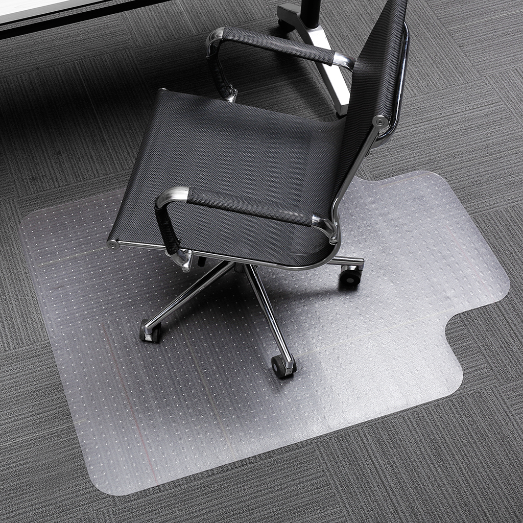 Orderly Translucent Office Chair Mat Carpet Protector With Lip And Non-slip Studded Backing Bpa And Phthalate Free For Low Pile Carpets Furniture