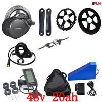 США ЕС нет налога 48 В 20AH 1000 Вт Треугольники электрический велосипед батареи + 48 В 750 Вт Bafang середине drive комплект электродвигателей + Бесплатн
