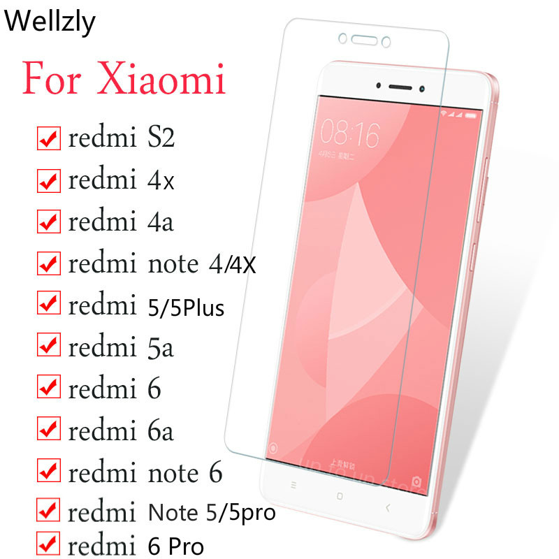 Protective Glass On The For <font><b>Xiaomi</b></font> <font><b>Redmi</b></font> 4X 5A 6A S2 5Plus note 4 <font><b>6</b></font> 5 Screen Protector for <font><b>Redmi</b></font> Note 5 4X <font><b>6</b></font> Pro Tempered Glass image