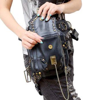 Steampunk Retro Motorcycle Bag Lady Bag Retro Rock Gothic Goth Shoulder Waist Bags Packs 4