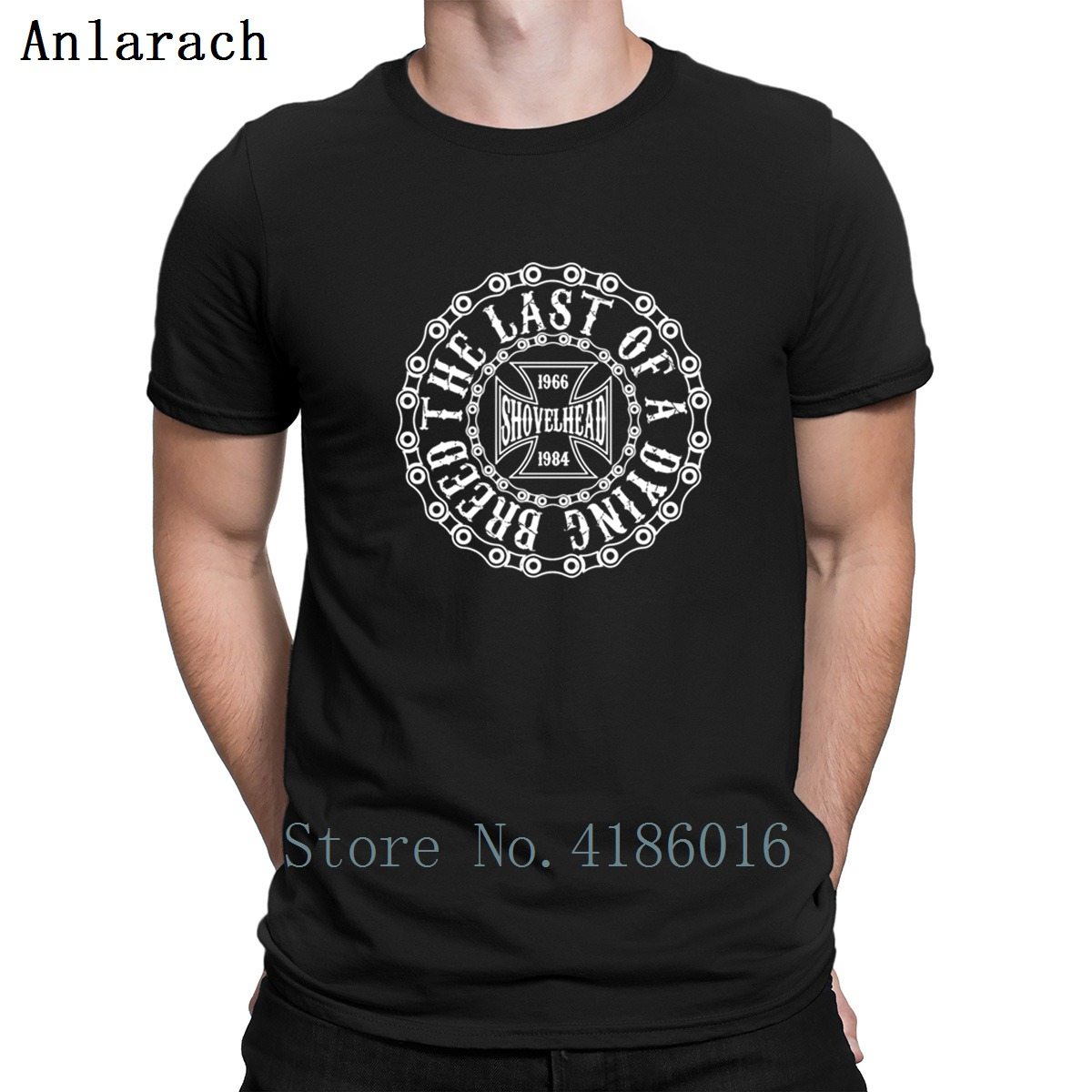 Shovelhead The Last Dying Breed T-Shirt Novelty Hiphop Tops Designs Tshirt For Men Comfortable Cotton S-3xl Graphic