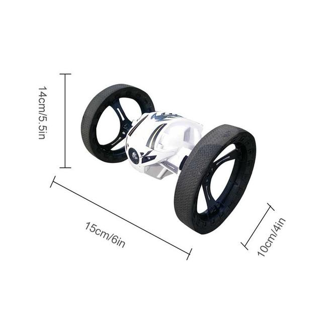 Kids Toys rc Car 2.4G RC Remote Control Bouncer Car Drone Jump High Bouncewith Flexible Wheels LED Light Music Brithday Gifts
