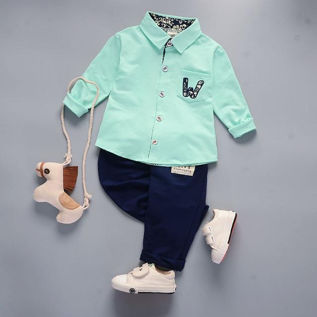 Boys Clothing Set 2018 Autumn Winter Boys Clothes 2pcs Outfit Kids Sport Suit 1-5 Year