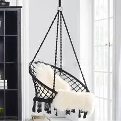 Nordic Stil Runde Hängematte Outdoor Indoor Schlafsaal Schlafzimmer Für Kind Erwachsene Schwingen Hängen Stuhl Hängematte